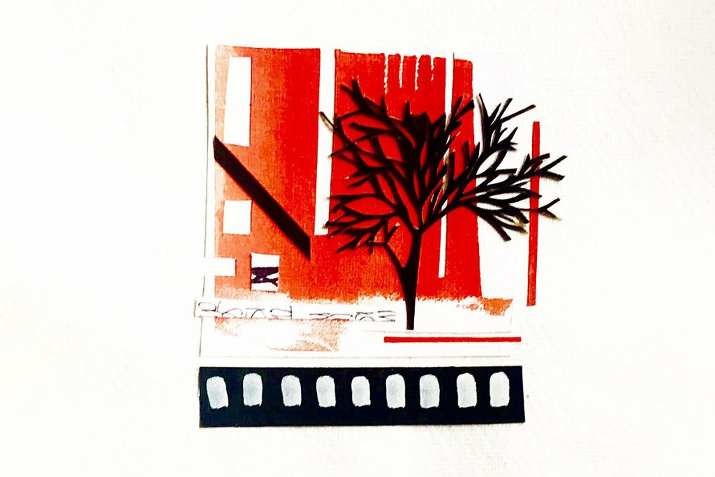 Penny Kennedy, 'Tree House', gouache, ink and collage