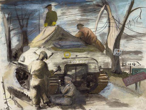 Robert Henderson Blyth, 'Engineers, 1944', watercolour