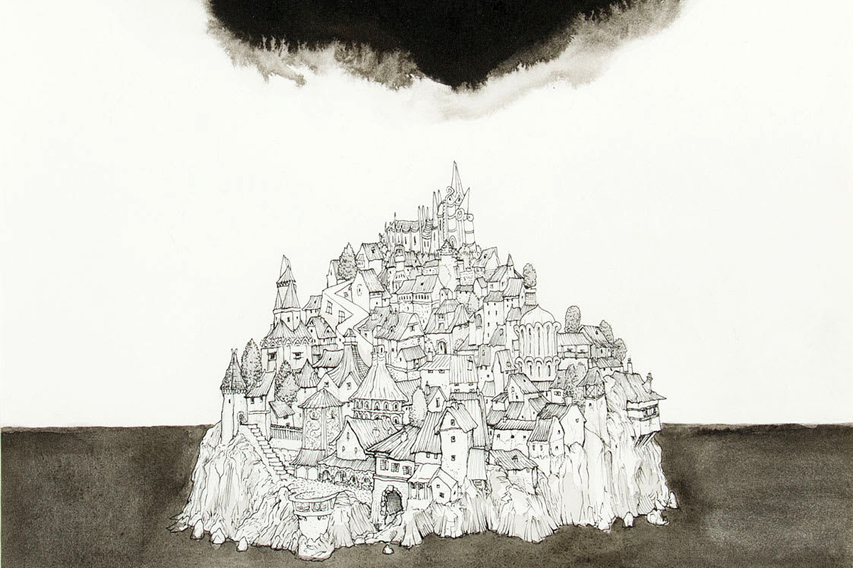 Robert Powell, 'Revenant City', lithograph and ink