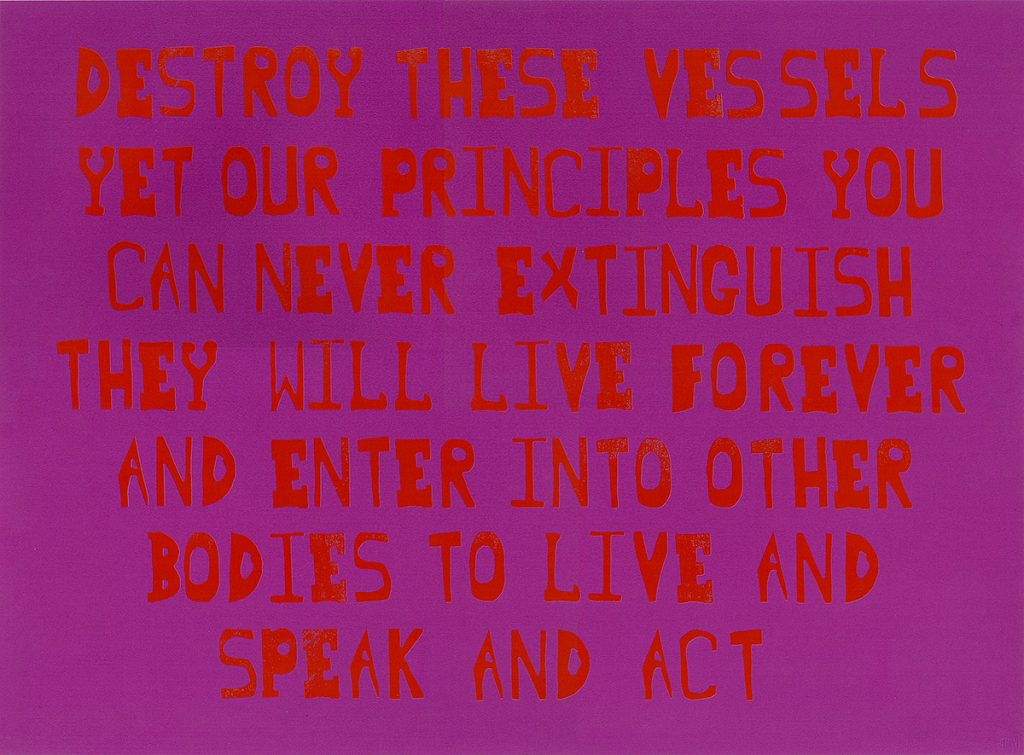 Ruth Ewan, 'Principles (Edward & Christopher)', blocktype and screenprint on paper