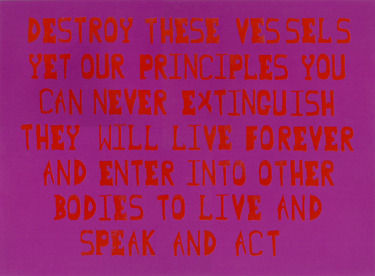 Ruth Ewan, 'Principles (Edward & Christopher)', blocktype and screenprint on paper