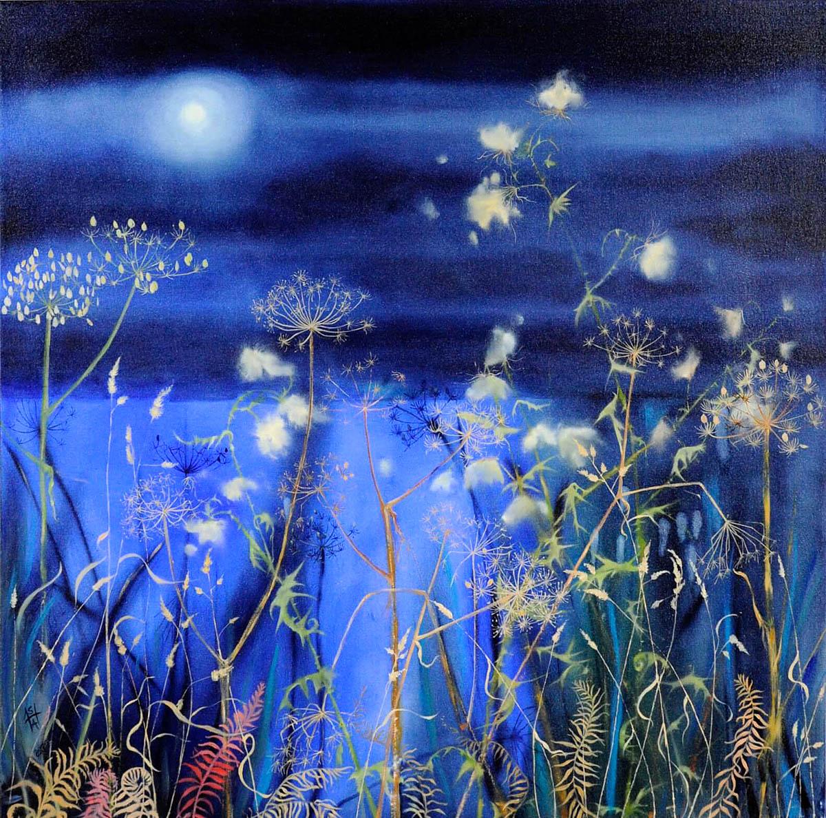 Sheila Anderson Hardy, 'Loch Moon', oil on canvas
