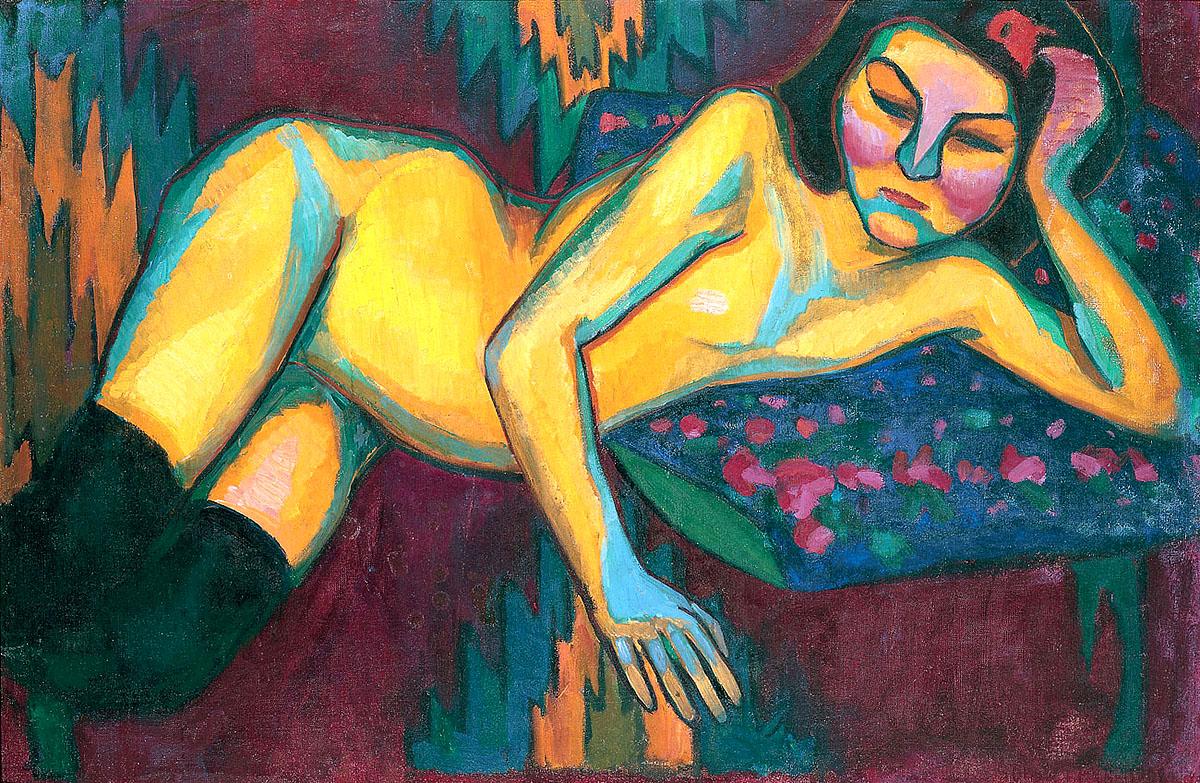 Sonia Delauney, 'Yellow Nude'