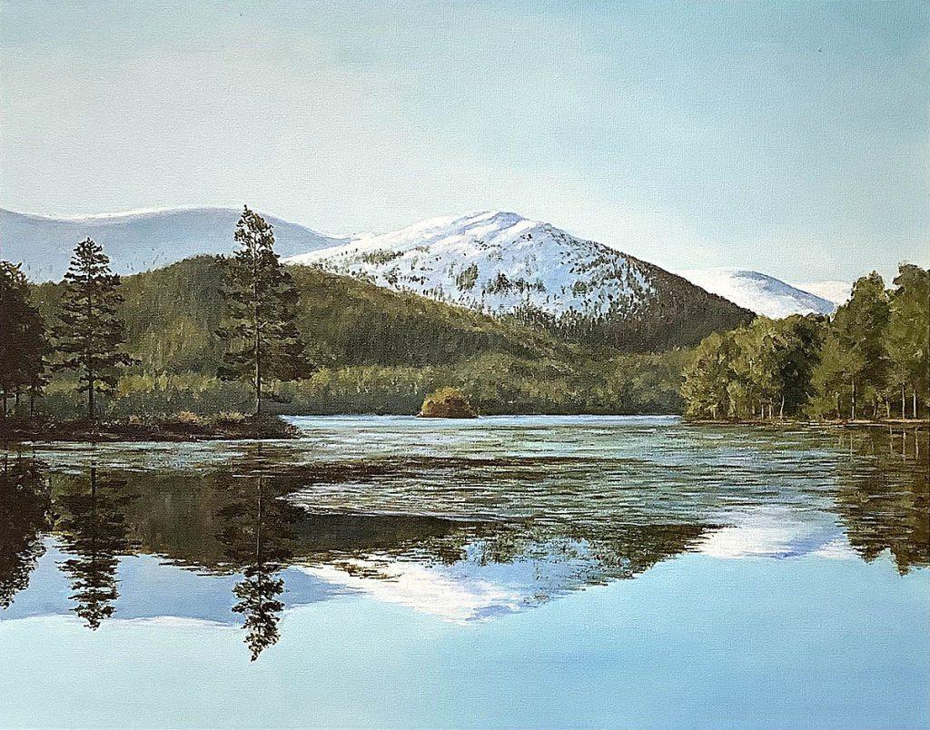 Colin Mackay, 'Loc An Eilean', oil on canvas board