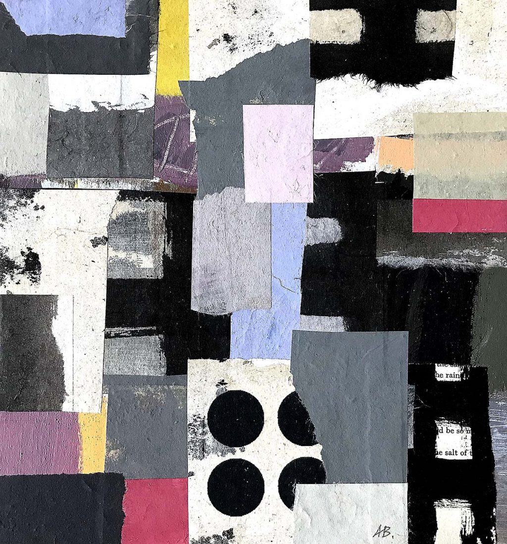 Alfons Bytautas, RSA, 'Beyond Words', acrylic and collage on board
