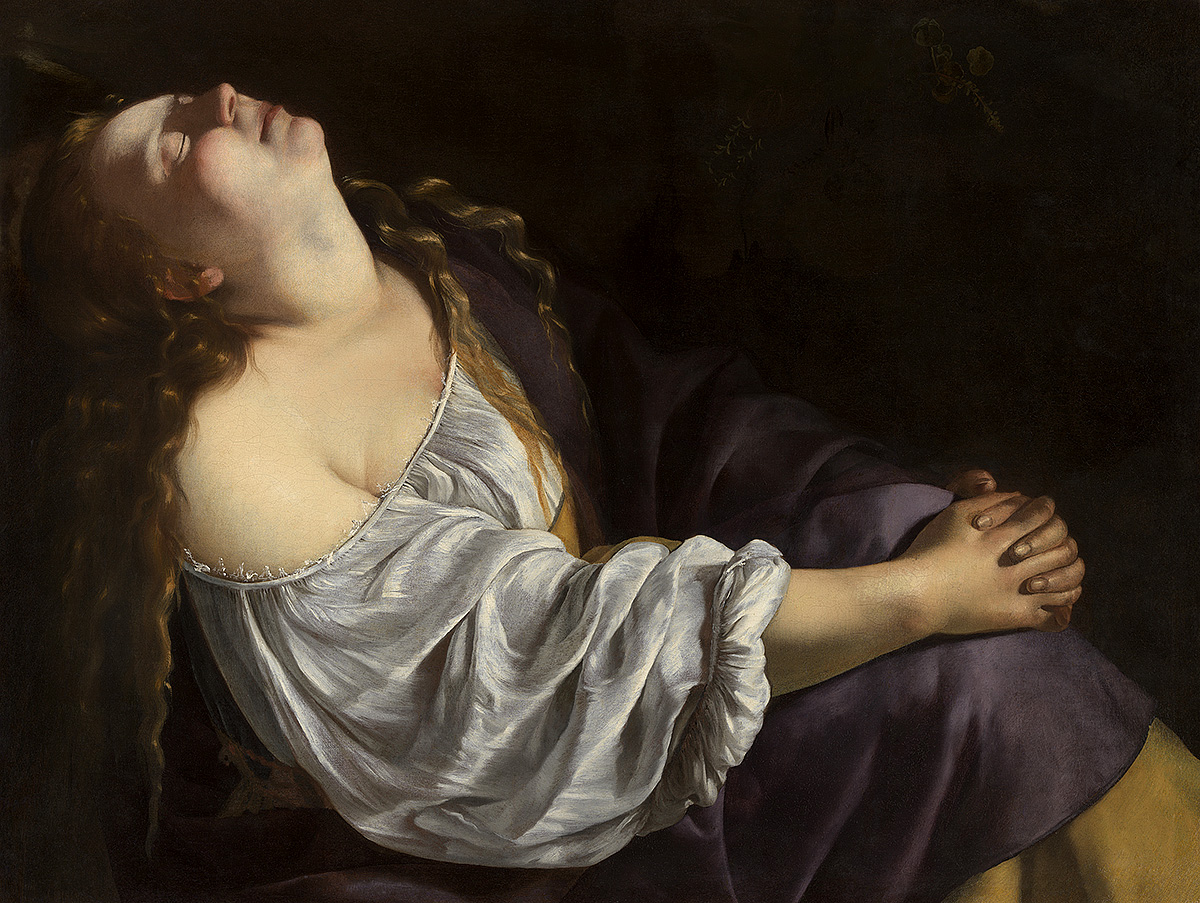 Artemisia Gentileschi, 'Mary Magdalene in Ecstasy', oil on canvas, 1620-1625