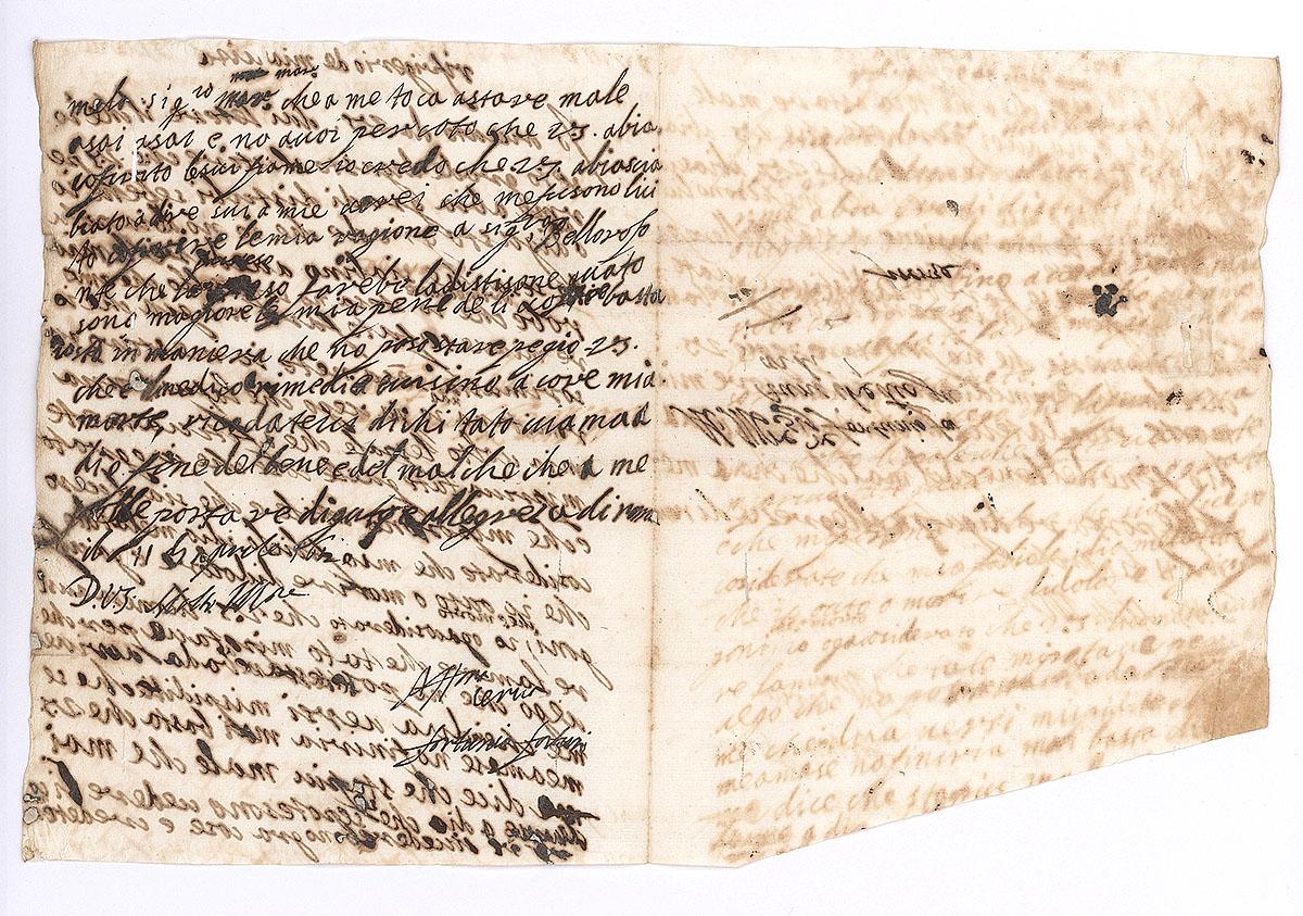 Artemisia Gentileschi, Solinas 2011, Letter 20, Artemisia to Francesco Maria Maringhi. Rome, Paper, 1620