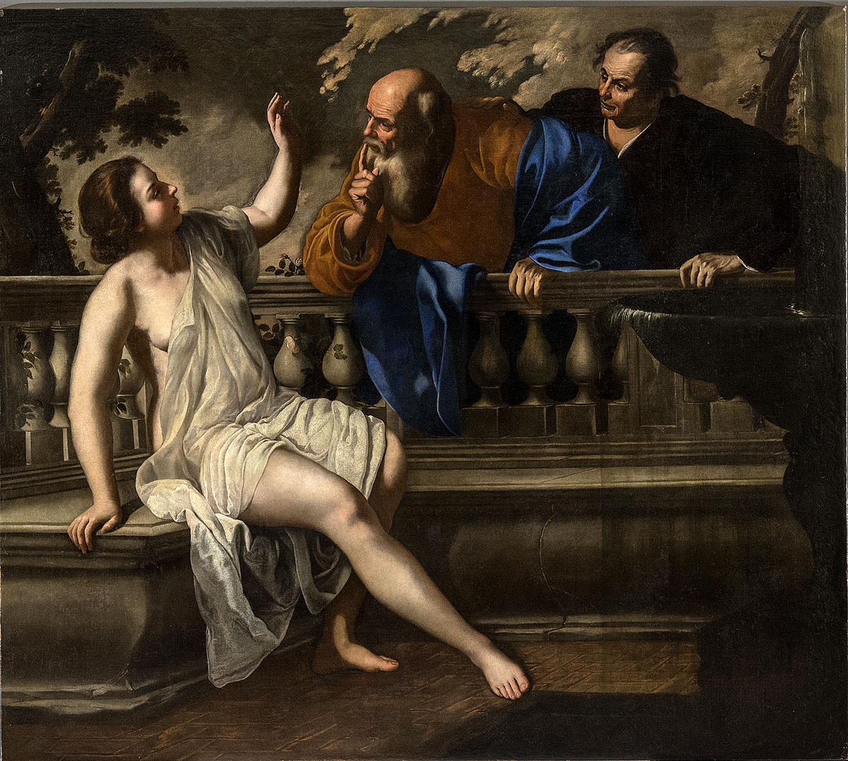 Artemisia Gentileschi, 'Susannah and the Elders', oil on canvas, 1652 (2)