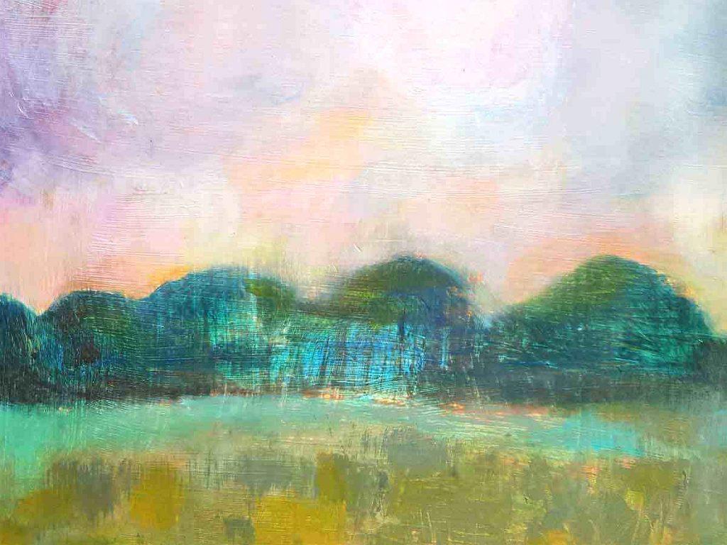 Barbara Moyes, 'The Meadows', acrylic