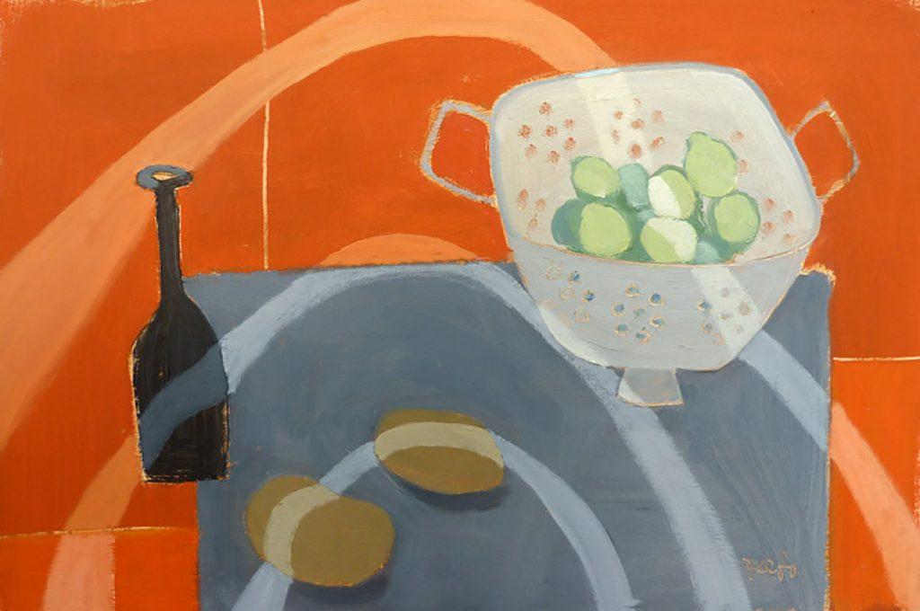 Fiona MacRae, 'Brussel Contour', oil on paper