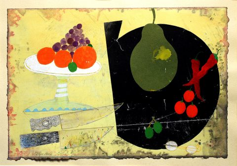 John Hall, 'Table Top Still Life', mixed media.jpg