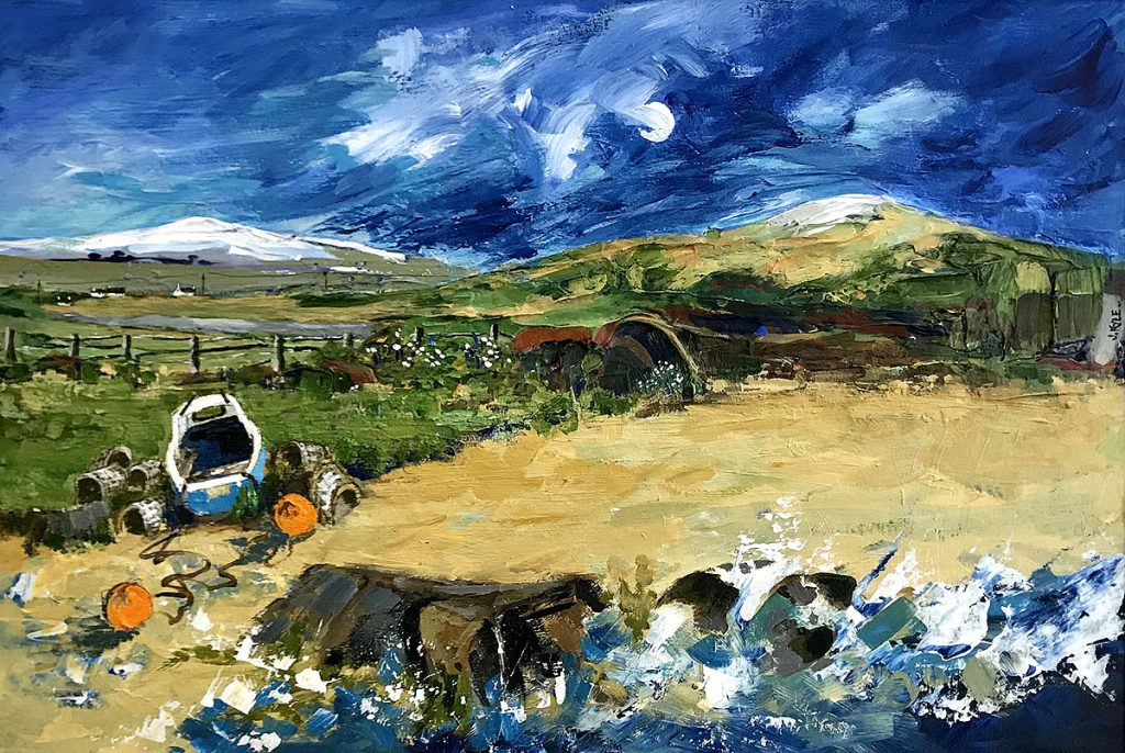 Joyce Kyle, 'Boat on the Shore', acrylic