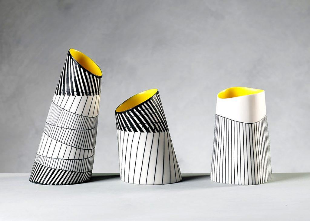 Lara Scobie, 'Vases', fine parian porcelain. Photograph Shannon Tofts