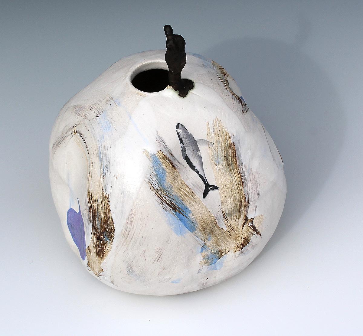 Leonie MacMillan, 'Contemplating The Void', ceramic stoneware, photographic decals