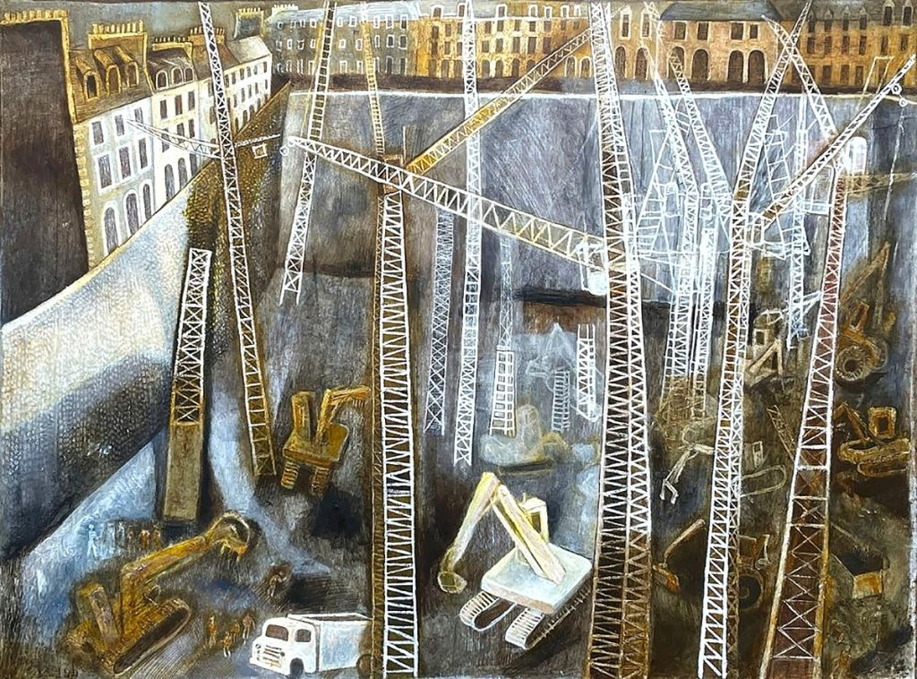 Michael McVeigh, 'The Hole at St James', mixed media on stencil paper