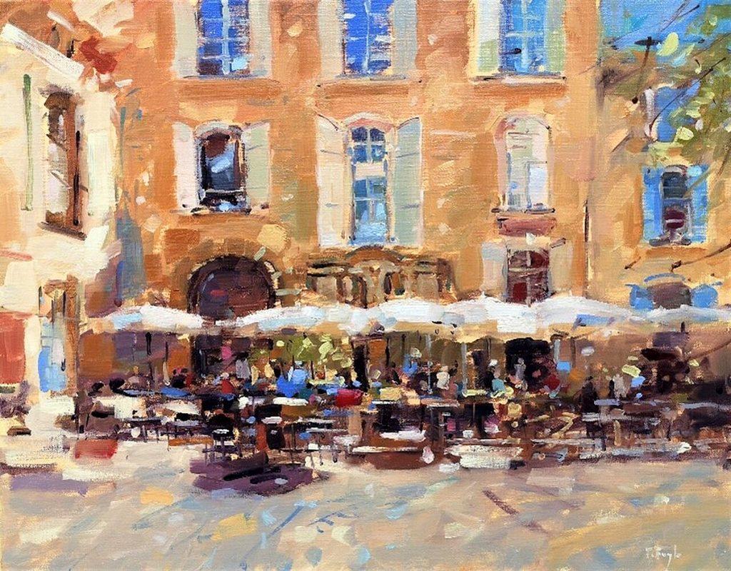 Peter Foyle, 'Provençale Café', oil on linen