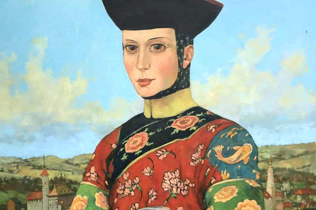 Stuart Moir, 'Donate Badoer - Mrs Marco Polo', oil on linen