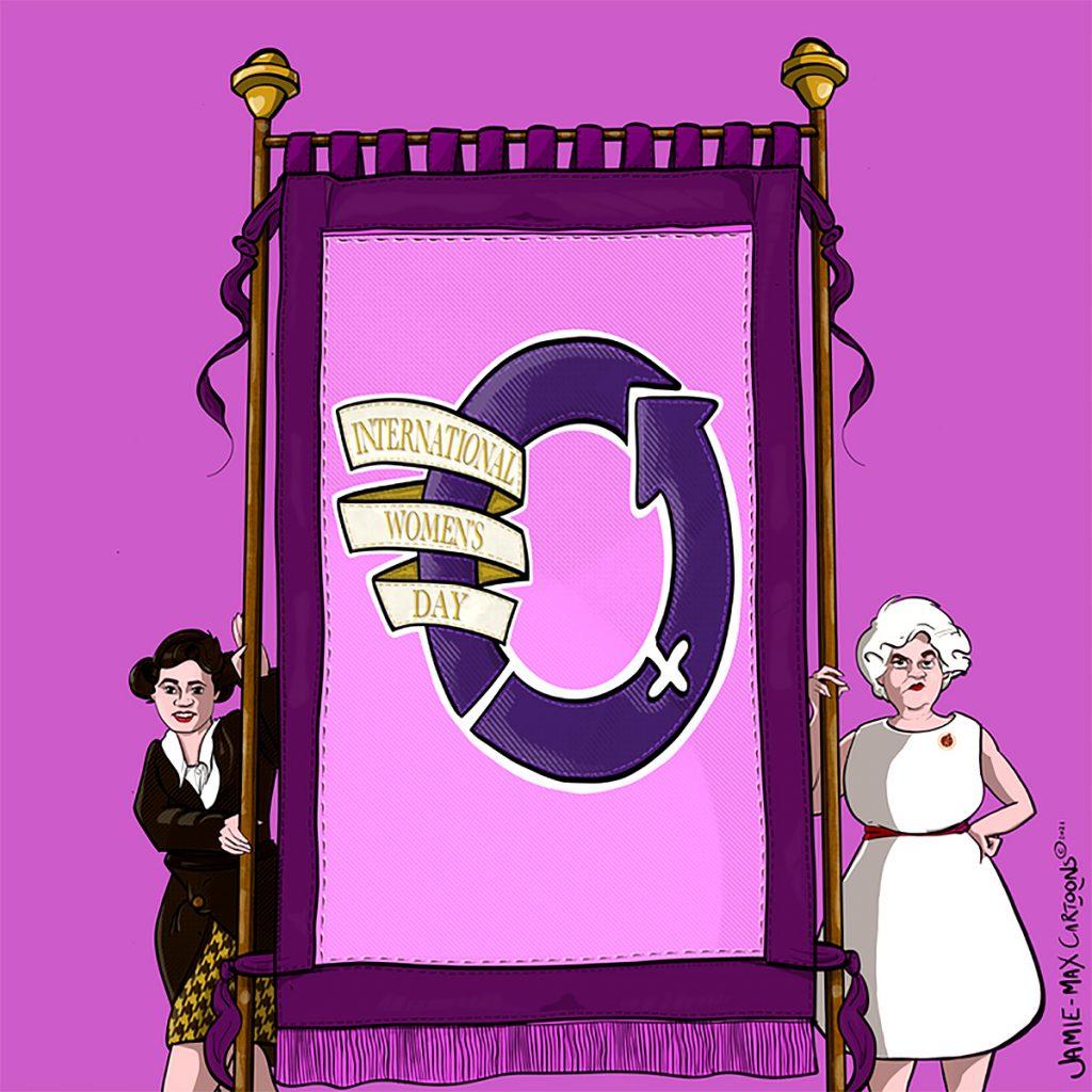 Knights Theatre - Jennie Lee: Tomorrow is a New Day. Illustration Jamie Max