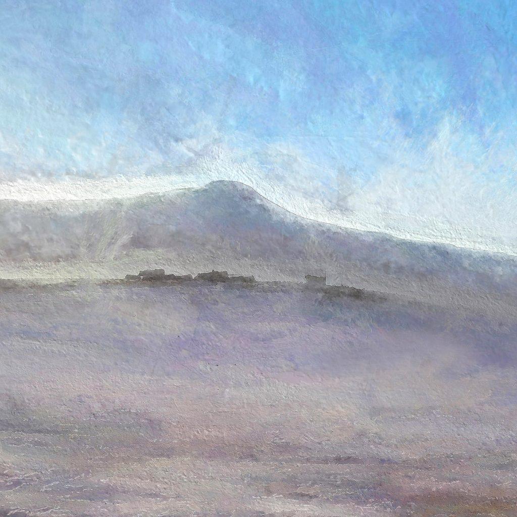 Ian Ledward, 'East Lomond in winter light'
