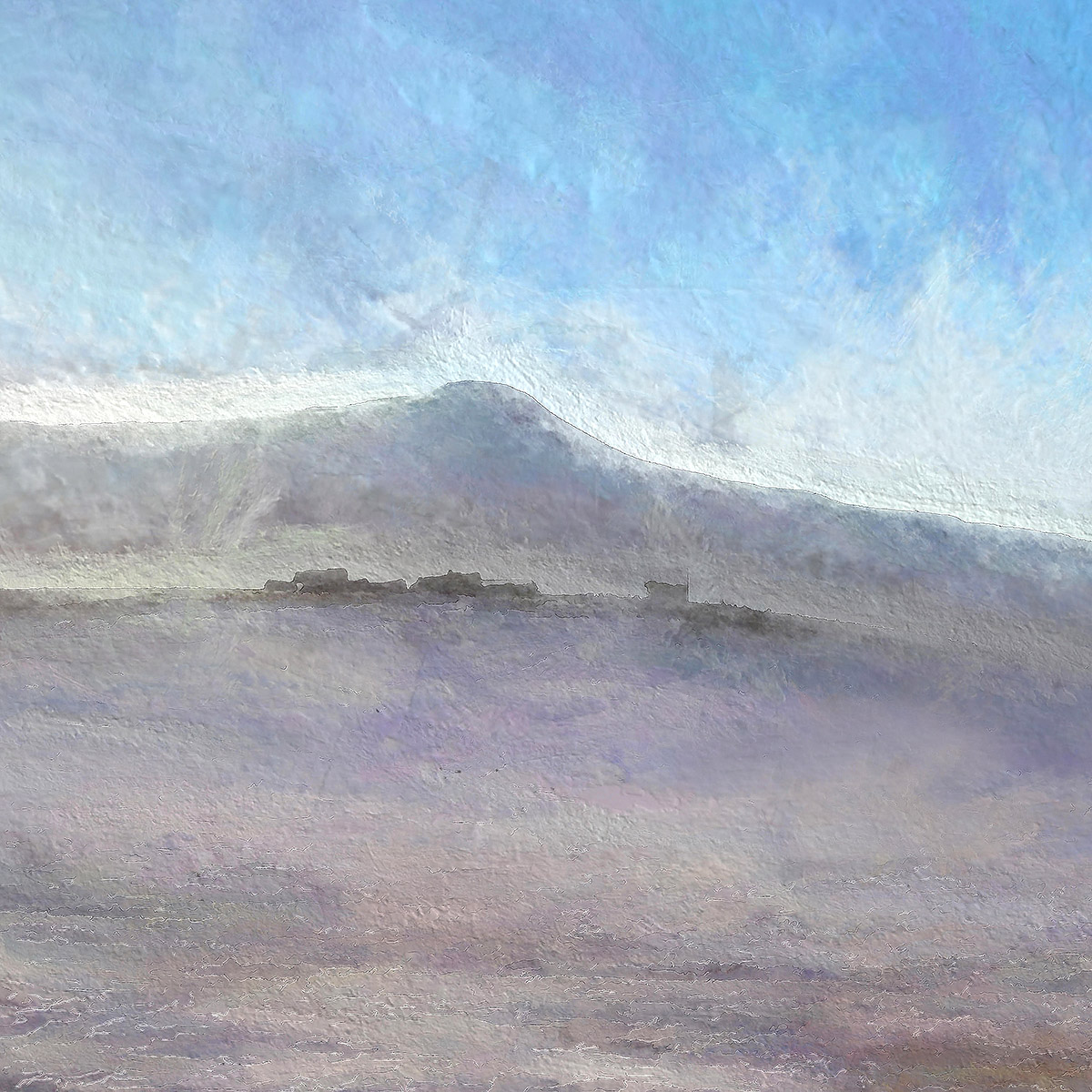 Ian Ledward, 'East Lomond in winter light'