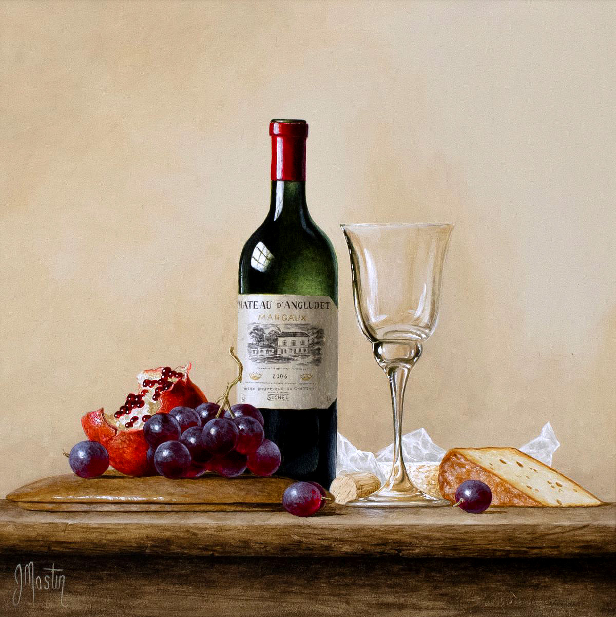 Ian Mastin, 'Chateau d'Angluet Margaux', acrylic on board
