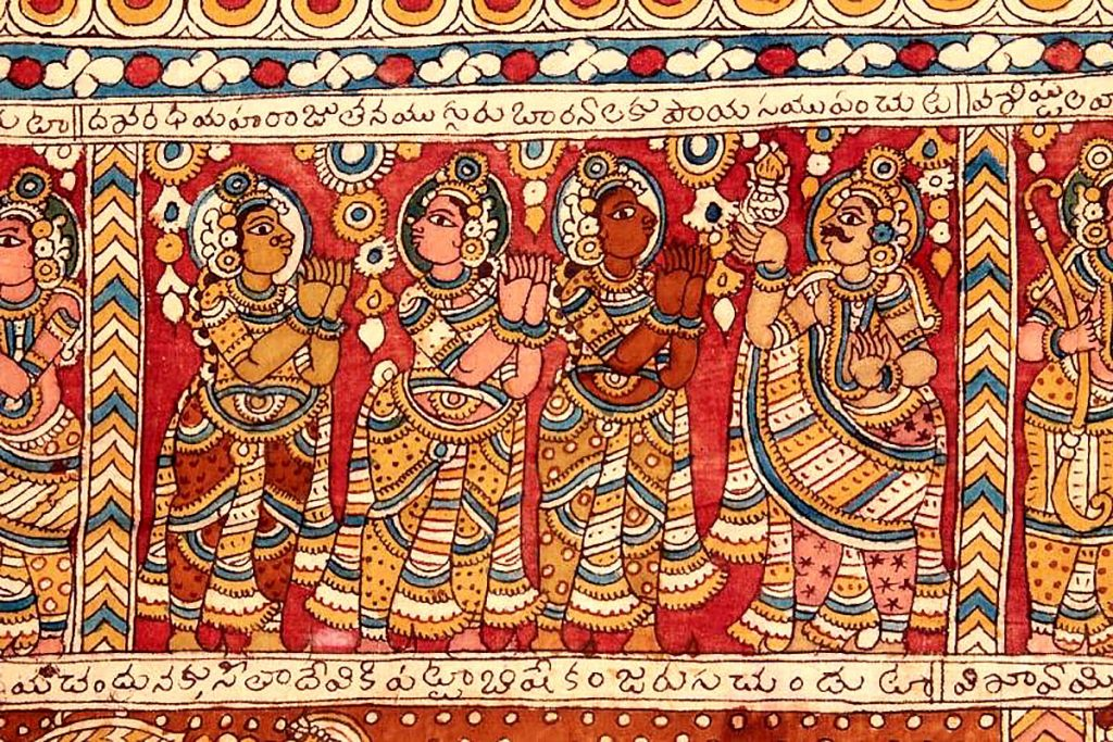 Indian Hand-Printed Cotton Textile