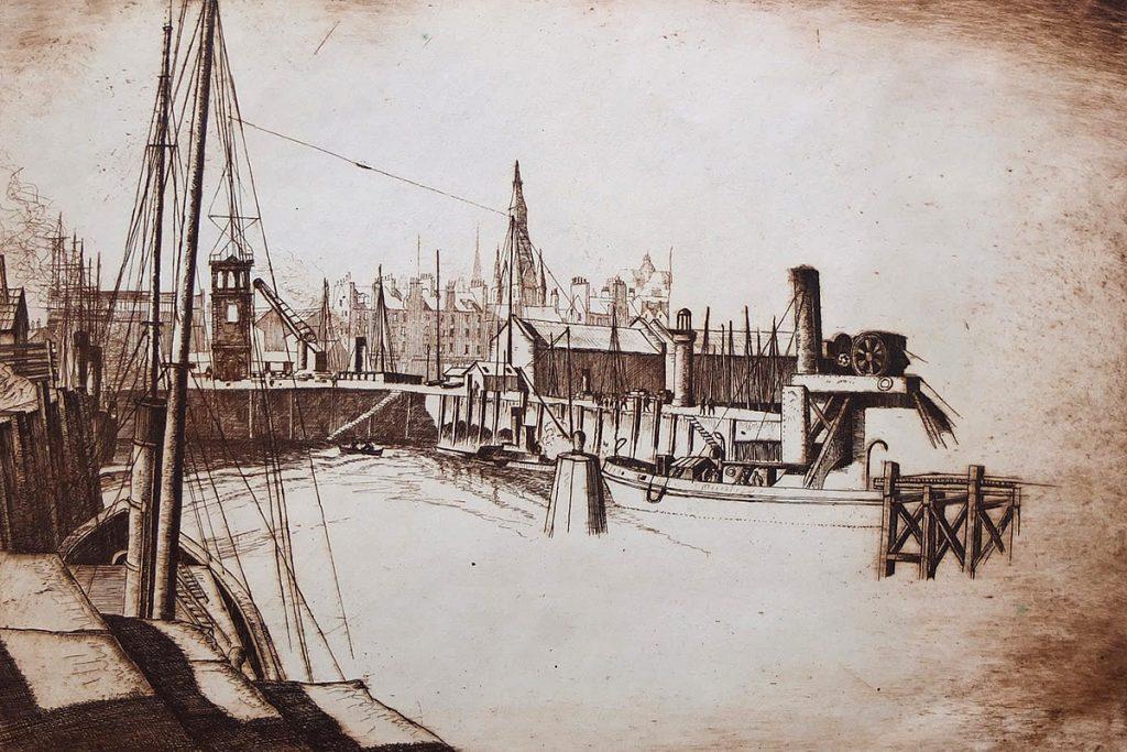 James Mcintosh Patrick, 'Tidal Basin', etching