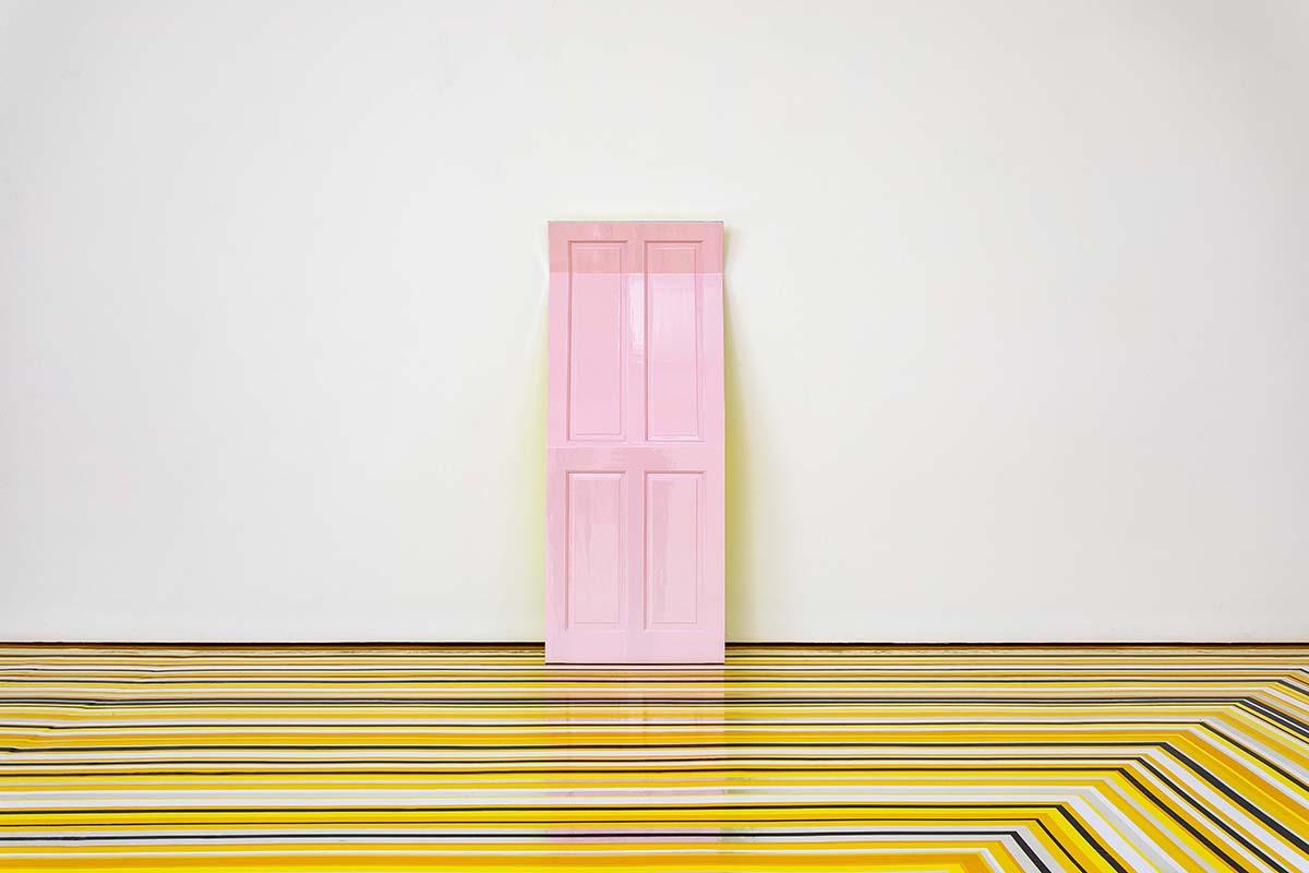 Jim Lambie, 'Pink Moon', Wooden door, acrylic mirror, automotive paint
