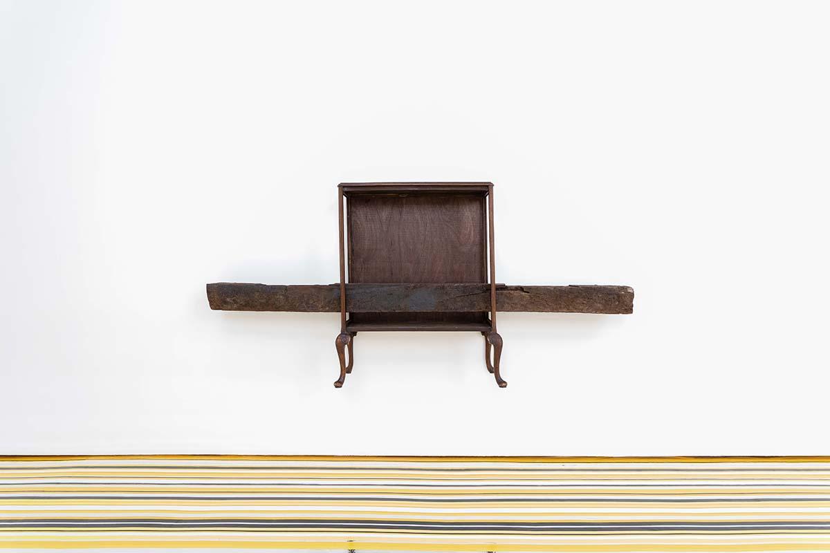 Jim Lambie, 'Wood Beez', Display cabinet, railway sleeper