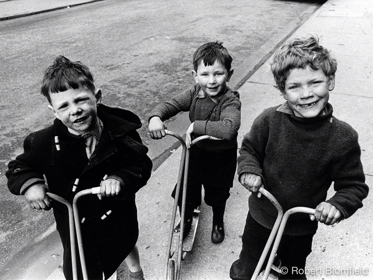 Robert Blomfield, 'Boys on scooters', photograph