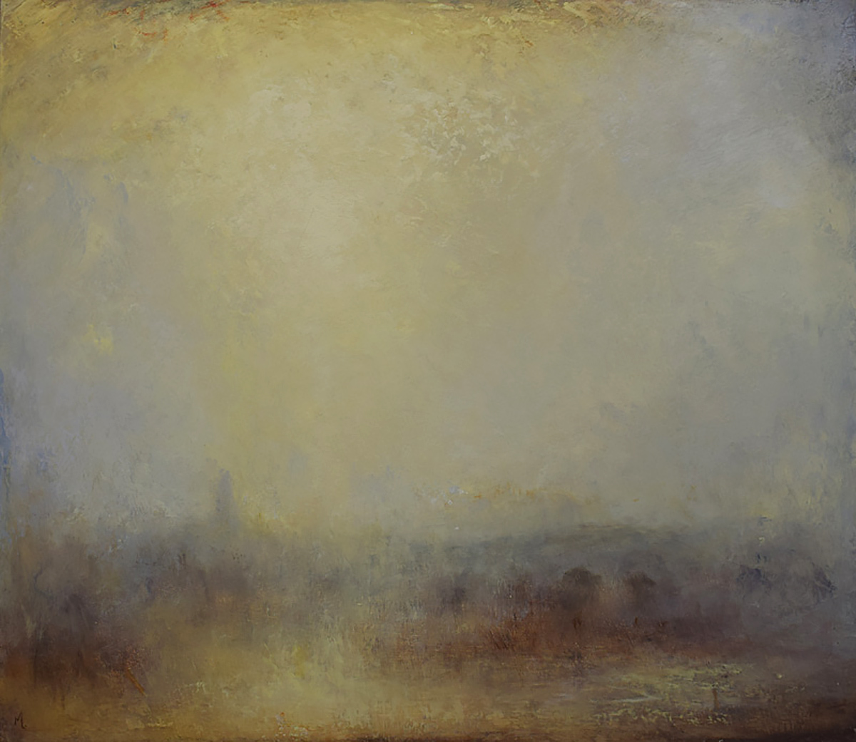 Robert Macmillan, 'Golden Haze', oil on panel