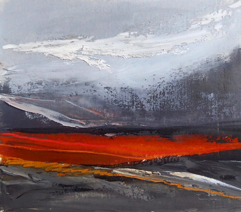 Winifred Hodge, 'Red Earth', oil on paper