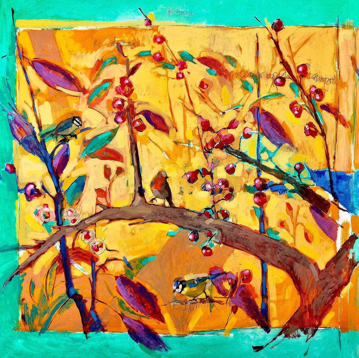 Adriana Eyzaguirre, 'Summer Birds', oil