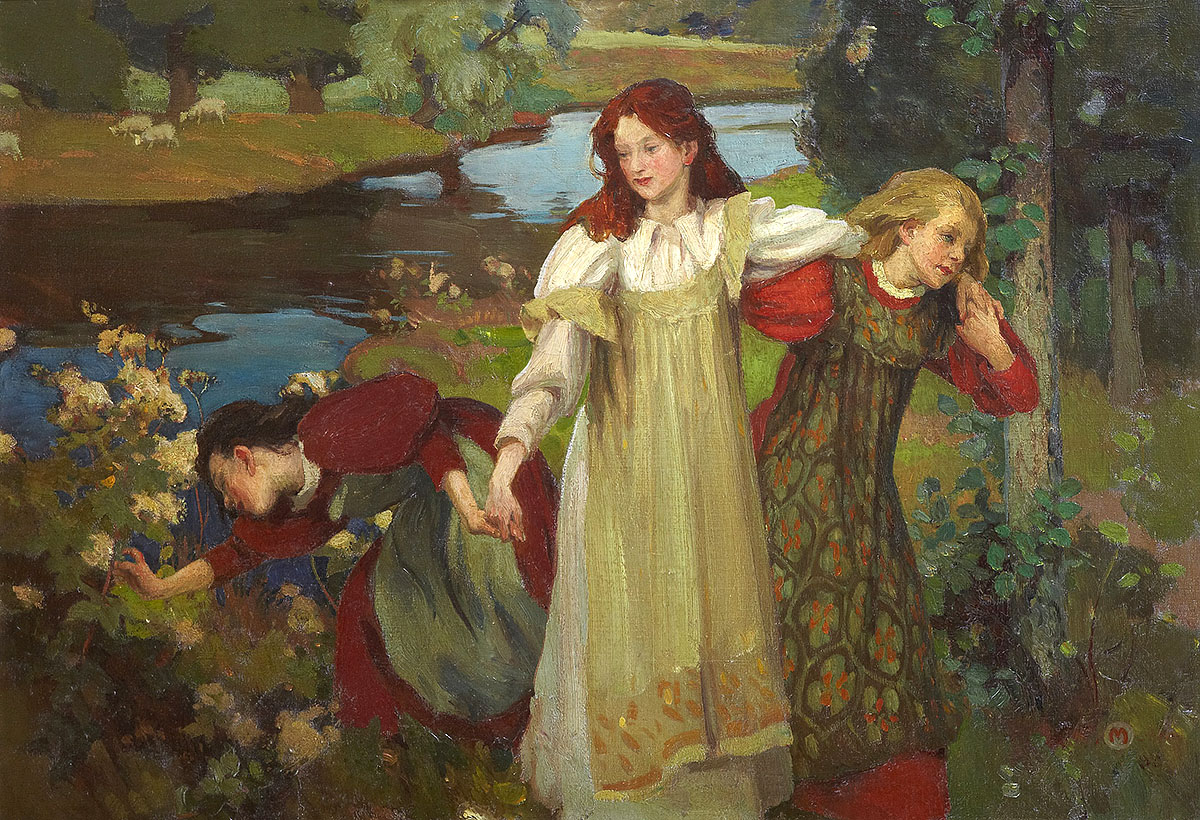 Charles H Mackie, 'There were Three Maidens pu'd a Flower (By the Bonnie Banks o' Fordie)'