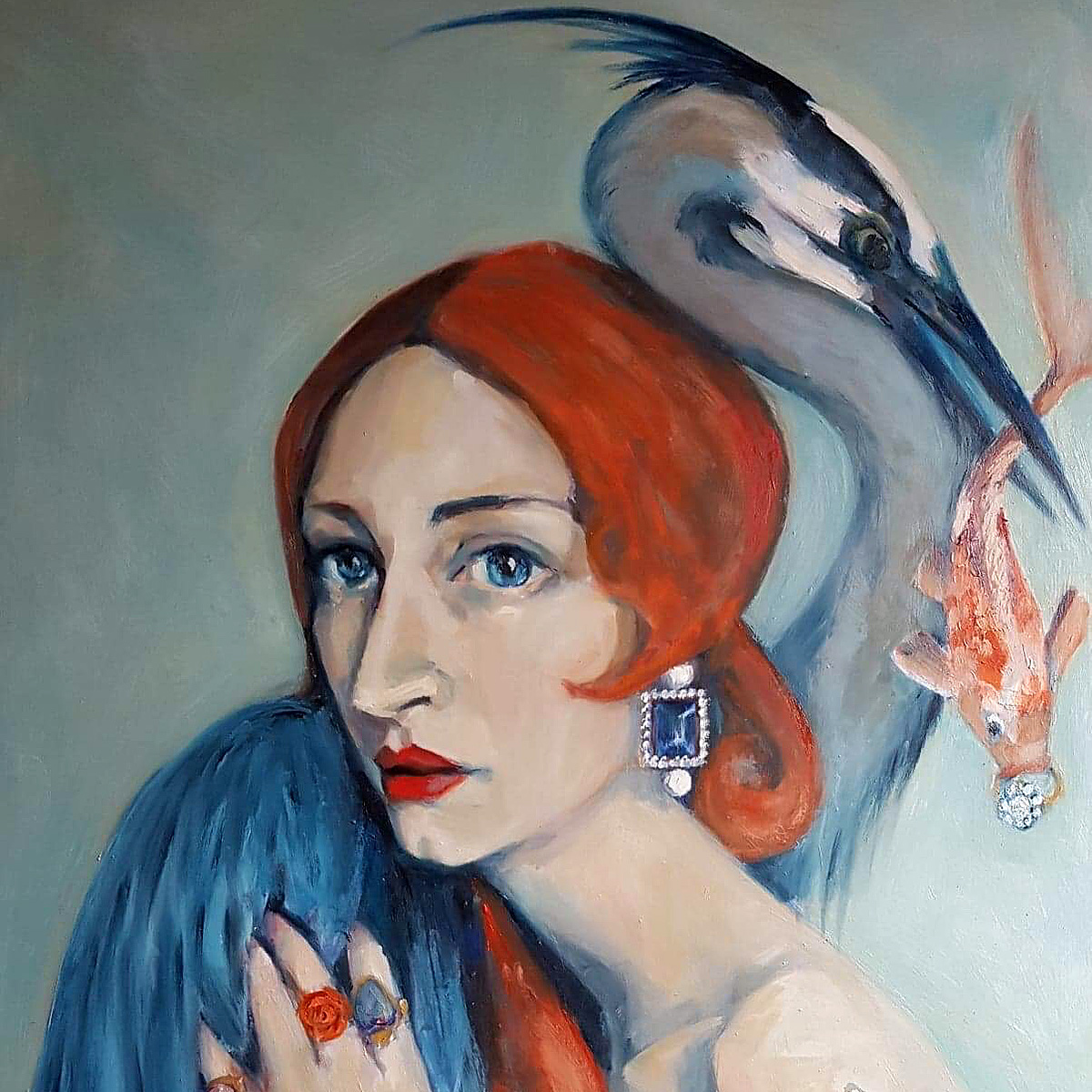 Gill Walton,'The Heron' Sq