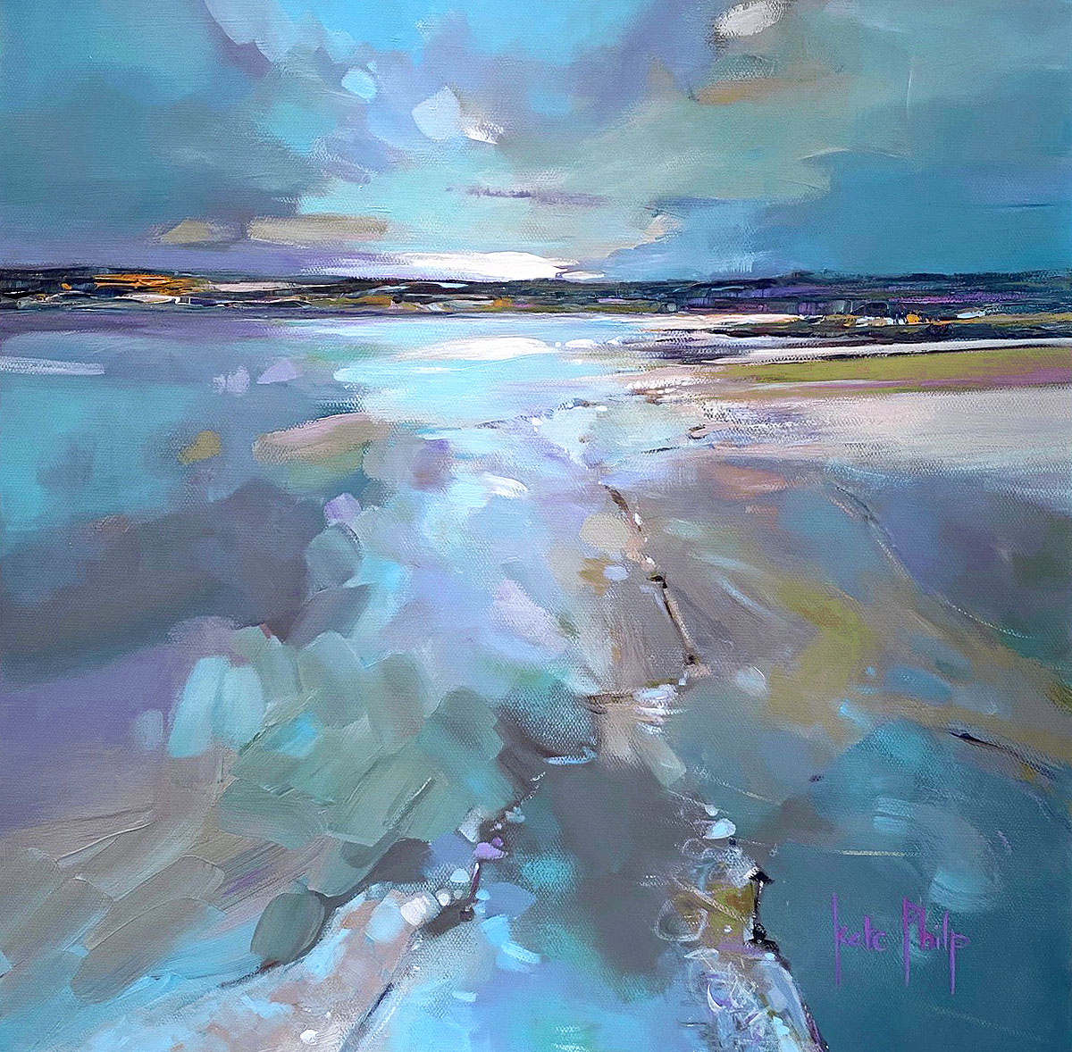 Kate Philp, 'All is Calm, All is Bright, Tentsmuir', acrylic
