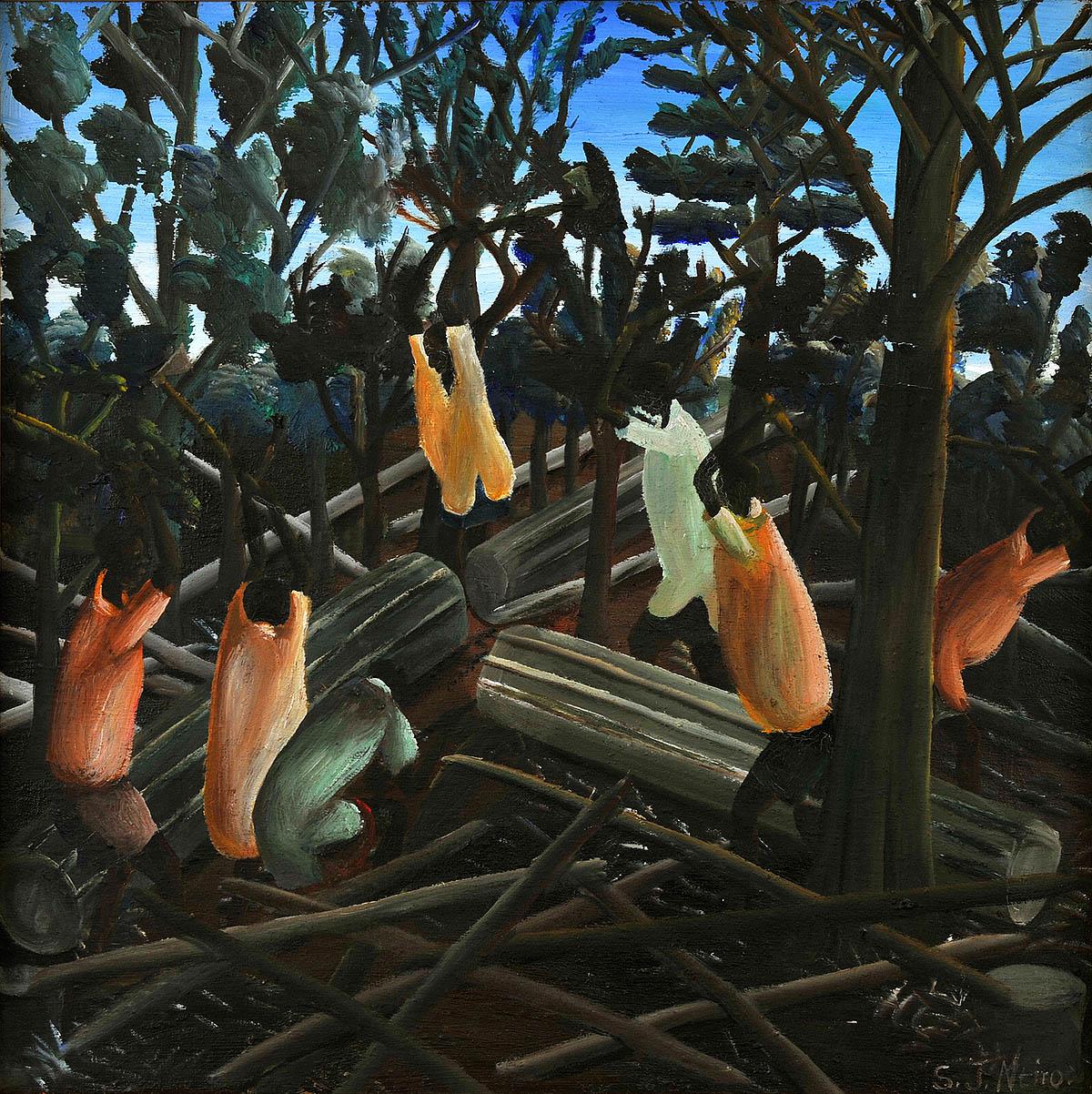 Samuel Ntiro, 'Chopping Wood', 1967