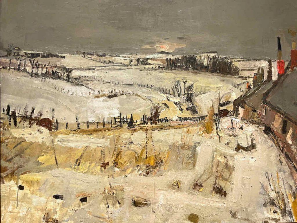 Joan Eardley, Snow (detail) 1958, oil on board