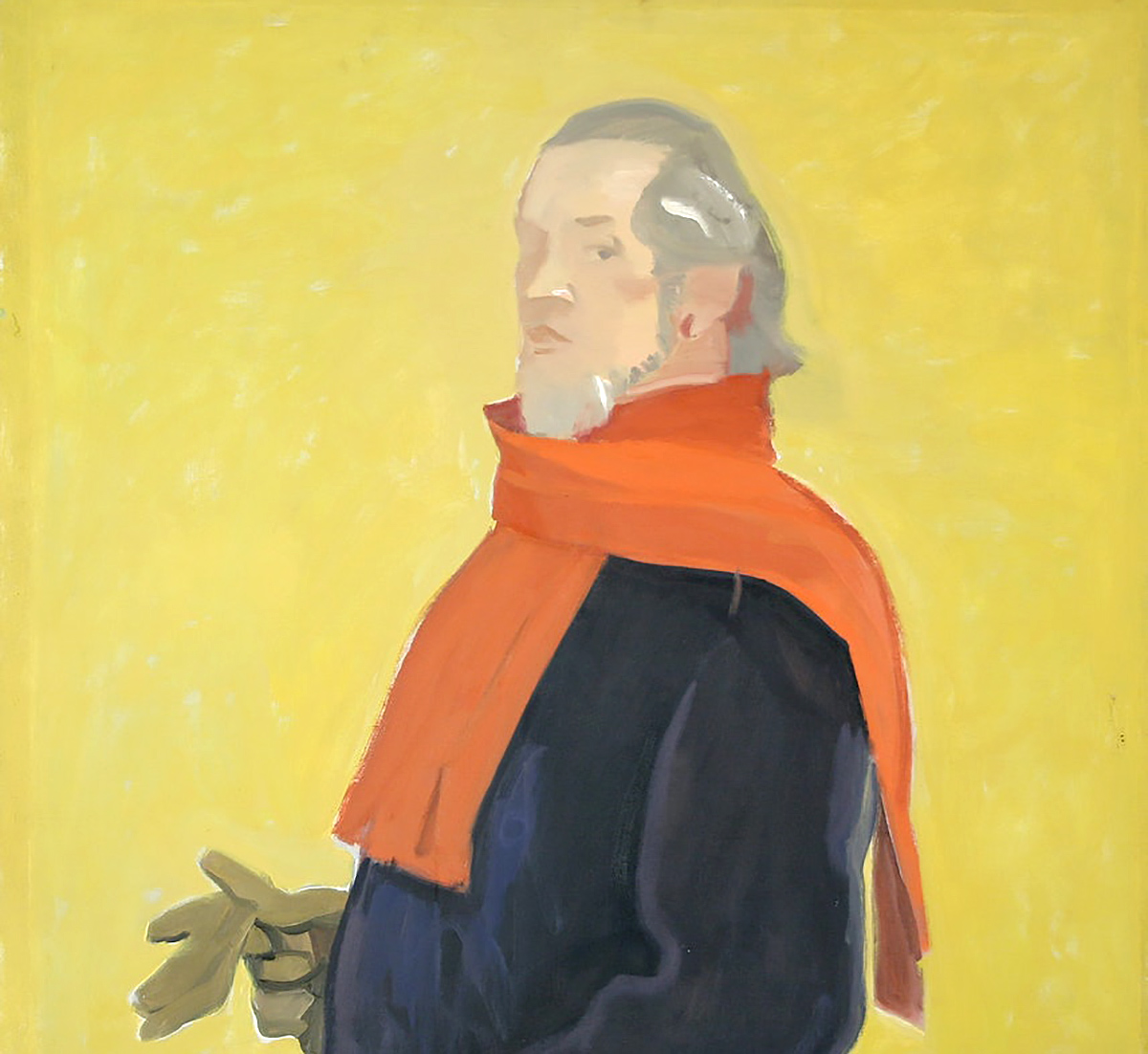 Alexander Goudie, 'Self Portrait with Red Scarf', oil on canvas