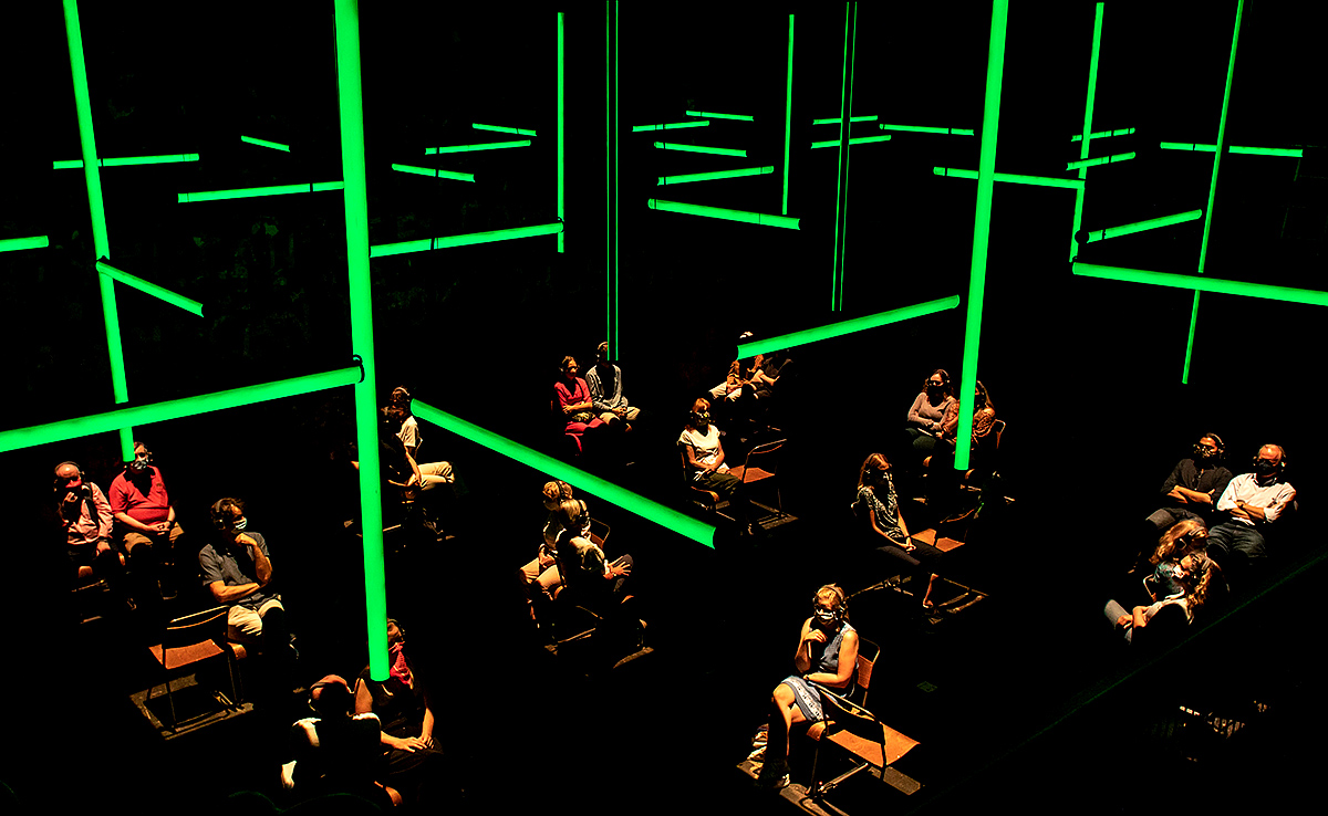 Visitors to the Festival Theatre will listen on headphones to the sound installation Blindness. Photo: Helen Maybanks