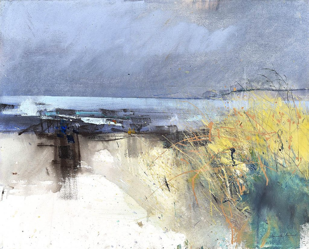Pascale Rentsch, 'Clouds Over Sea and Marram Grass', mixed media