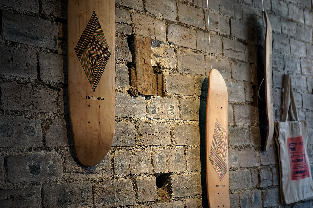 re-ply and No Comply, recycled skateboards