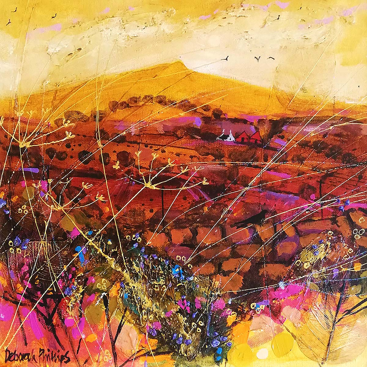 Deborah Phillips, 'Arid Evening', acrylic