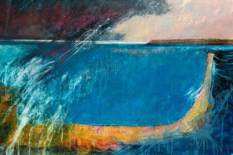 Georgie Young, 'Breakwater', acrylic on board