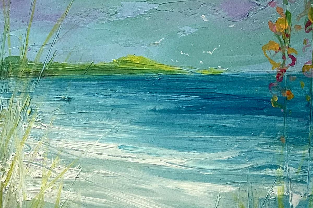 Gillian Park, 'Beyond the Dunes', oil (detail)