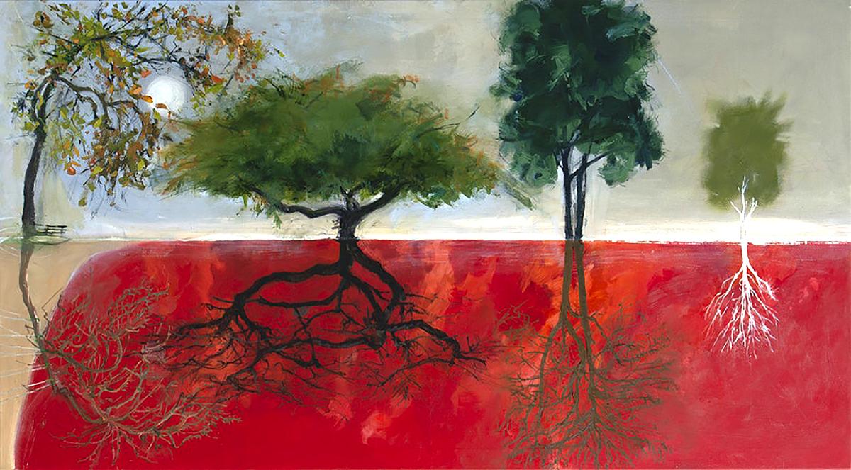 Kate Downie, 'Between Seasons (study)' oil on canvas