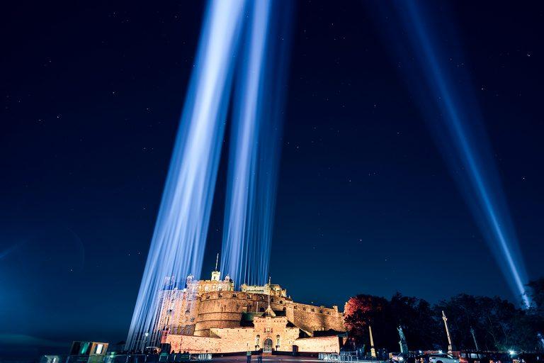 2020's Edinburgh International Festival featured a city-wide light display, 'My Light Shines On'. Image Ryan Buchanan