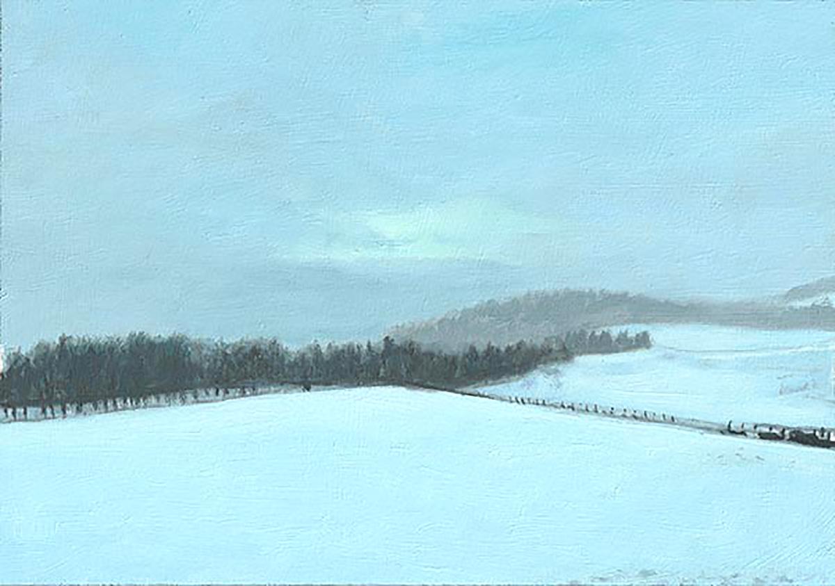 Phil Braham, 'Glen Turret, Winter', oil