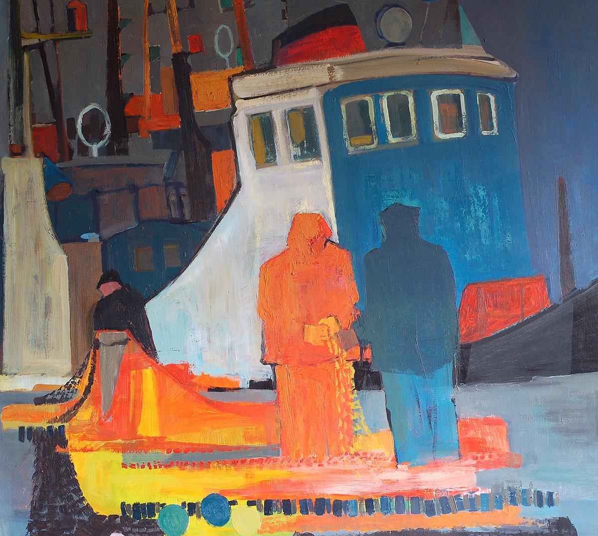 Donald Smith, 'Wheelhouse', oil on panel