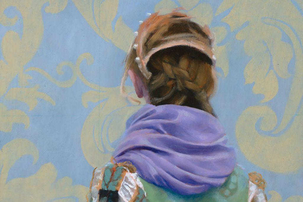 Jane Gardiner, 'Marie', oil on panel (detail)